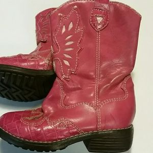 Circo Pink Cowboy Boots Toddler Girl Size 9 Zip
